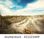 quarry at evening | Shutterstock . vector #321221609