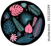 decorative tropical plant... | Shutterstock .eps vector #321222299