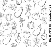 vegetables vector pattern design   Shutterstock .eps vector #321222431