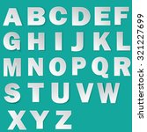 font with long shadow effect.... | Shutterstock .eps vector #321227699