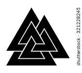 valknut symbol . vector... | Shutterstock .eps vector #321228245