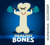 strong bone character lifting a ... | Shutterstock .eps vector #321230369