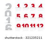 simple 2016 calendar  2016...   Shutterstock .eps vector #321235211