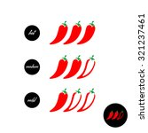 hot red pepper strength scale... | Shutterstock .eps vector #321237461