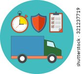 delivery service concept.... | Shutterstock .eps vector #321237719