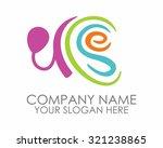 typography ear hearing vector... | Shutterstock .eps vector #321238865