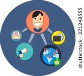 referral marketing concept.... | Shutterstock .eps vector #321248555