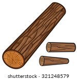 wooden log | Shutterstock .eps vector #321248579