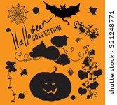 set of black halloween icons  ... | Shutterstock .eps vector #321248771