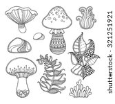 Nature Elements Vector Set In...