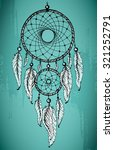 hand drawn dream catcher with... | Shutterstock .eps vector #321252791