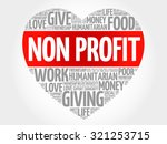 non profit word cloud  heart... | Shutterstock .eps vector #321253715
