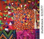 close up of colorful tapestries. | Shutterstock . vector #3212577