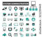 system administration icons | Shutterstock .eps vector #321259445