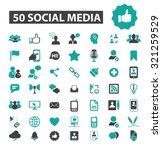 50 social media icons | Shutterstock .eps vector #321259529