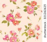 roses background   seamless... | Shutterstock . vector #321262625