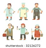 people of different professions | Shutterstock .eps vector #32126272