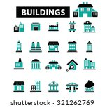 buildings  houses icons | Shutterstock .eps vector #321262769