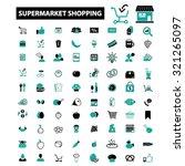 supermarket  shopping  retail... | Shutterstock .eps vector #321265097