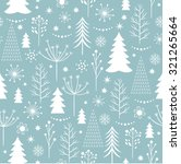 seamless christmas pattern | Shutterstock .eps vector #321265664