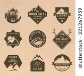 set of 9 adventure labels with... | Shutterstock .eps vector #321267959
