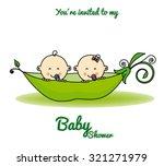 twins baby shower | Shutterstock .eps vector #321271979