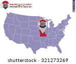 missouri state on usa map.... | Shutterstock .eps vector #321273269
