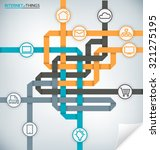 internet of things concept... | Shutterstock .eps vector #321275195