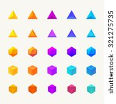 polygon 3d objects set. vector... | Shutterstock .eps vector #321275735