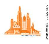 modern fantastic city....   Shutterstock .eps vector #321277877