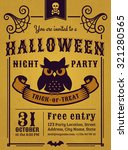 invitation to halloween night... | Shutterstock .eps vector #321280565