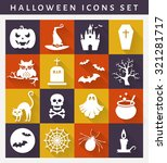halloween icons. collection of... | Shutterstock .eps vector #321281717