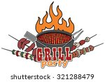 grill  barbecue symbol  icon ... | Shutterstock .eps vector #321288479