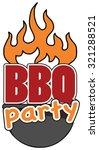 grill  barbecue symbol  icon ... | Shutterstock .eps vector #321288521