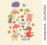 joyful autumn | Shutterstock .eps vector #321292361