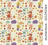 joyful autumn pattern | Shutterstock .eps vector #321292364