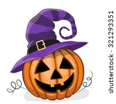 jack o'lantern illustration... | Shutterstock .eps vector #321293351