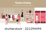 fashion clothing store banner... | Shutterstock .eps vector #321294494