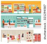 supermarket  electronics store... | Shutterstock .eps vector #321294587