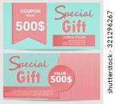 gift voucher certificate coupon ... | Shutterstock .eps vector #321296267