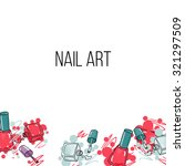 vector nail lacquer bottles on...   Shutterstock .eps vector #321297509