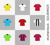 soccer football shirts... | Shutterstock .eps vector #321304025