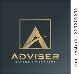 finance logo vector  adviser... | Shutterstock .eps vector #321305315