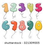 cute colorful bubble shaped... | Shutterstock .eps vector #321309005
