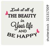 retro typographic poster design ... | Shutterstock .eps vector #321317009
