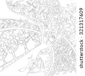coloring book with a contour...   Shutterstock .eps vector #321317609