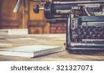 Stock photo close up of typewriter vintage retro styled 321327071