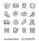 modern line style icons of... | Shutterstock .eps vector #321328259