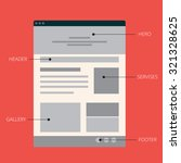 vector flat web site template