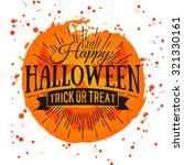 happy halloween poster on...   Shutterstock .eps vector #321330161